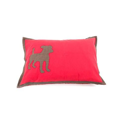 Funda de cama para perros Dog algodón color roja