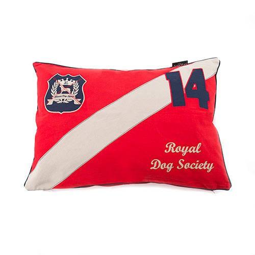 Funda de cama para perros Classic algodón color roja