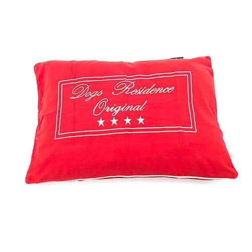Funda de cama para perros Residence algodón color roja