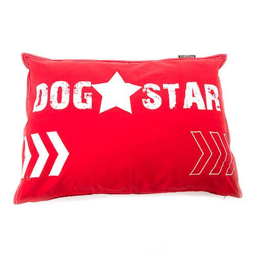 Funda de cama para perros Dog Star algodón color rojo