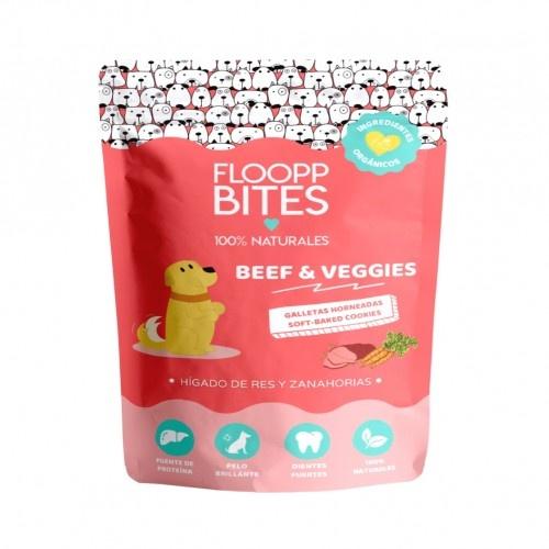 Galletas 100% Naturales FooppBites Beef & Veggies sabor Hígado y zanahorias