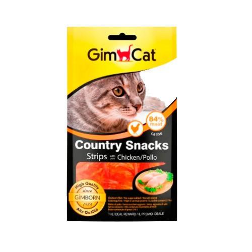 GimCat Country Snacks para gatos de pollo en tiras