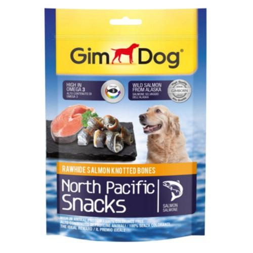 GimDog North Pacific huesitos para perros con salmón trenzado