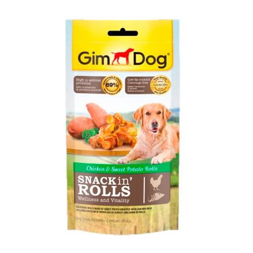 GimDog Snacks in Rolls para perros de pollo y batata