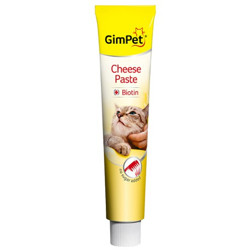 GimPet Pasta para gatos con queso y biotina