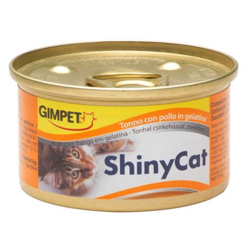 GimPet Shiny Cat comida húmeda para gatos con atún y pollo