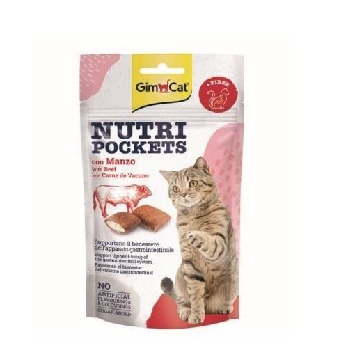 Golosinas para gatos GimCat Nutri Pockets buey y malta