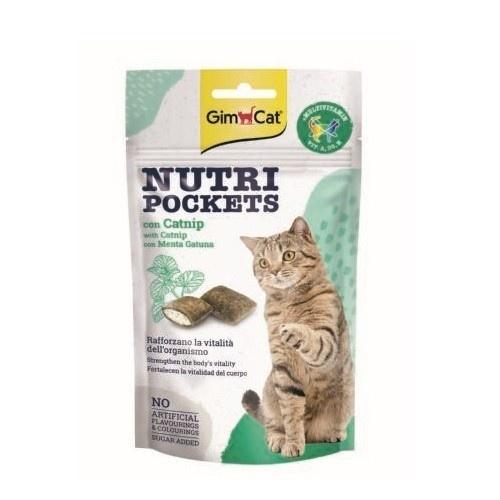 Golosinas para gatos GimCat Nutri Pockets con Catnip y multivitamina