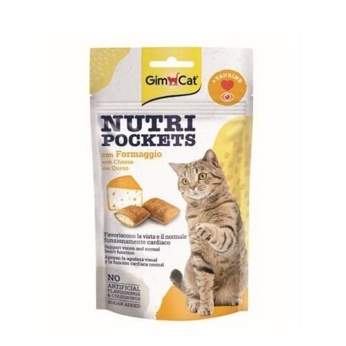 Golosinas para gatos GimCat Nutri Pockets queso y taurina