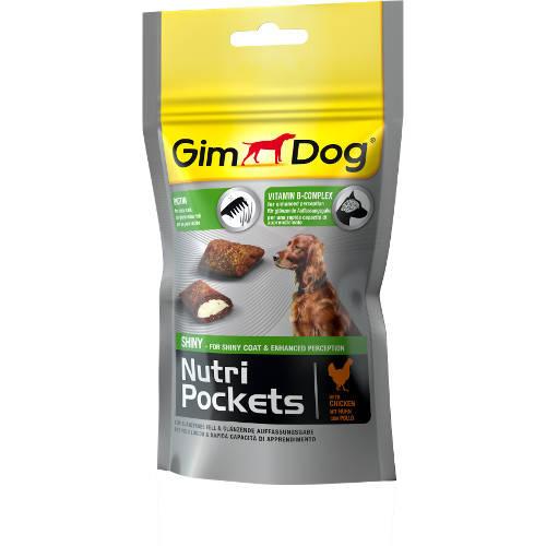 Golosinas para perros GimDog Nutri Pockets Shiny pollo