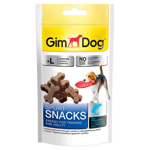 Golosinas para perros Gim Dog Sport Snacks huesitos de salmón