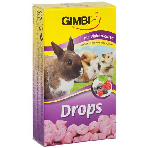 Golosinas para roedores Gimbi Drops frutas del bosque