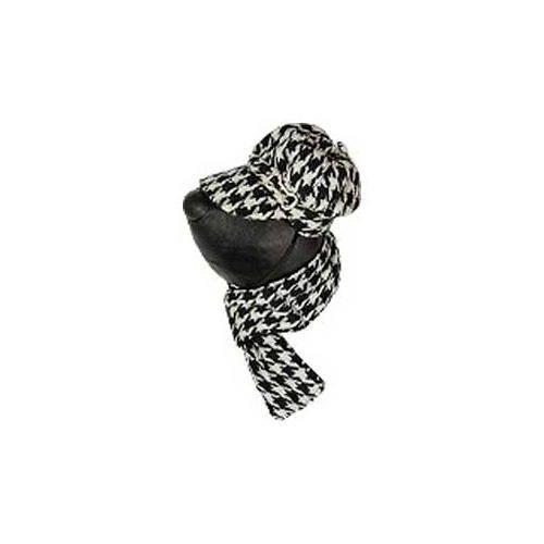 Conjunto de gorra y bufanda negras para perros