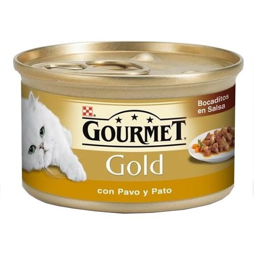 Gourmet Gold bocaditos en salsa con pavo y pato