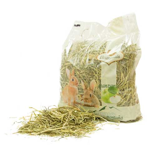 Mountain hay with apple for rodents Vivanimals
