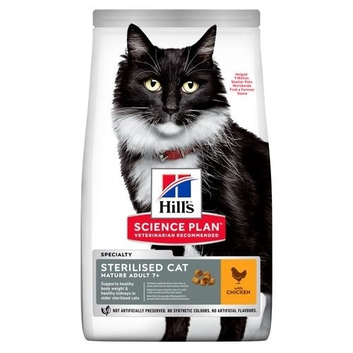Hill's Feline Mature Adult 7  Sterilised Cat Pollo
