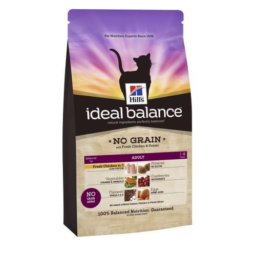 Hill's Ideal Balance Adult No Grain pienso para gatos con pollo y patata