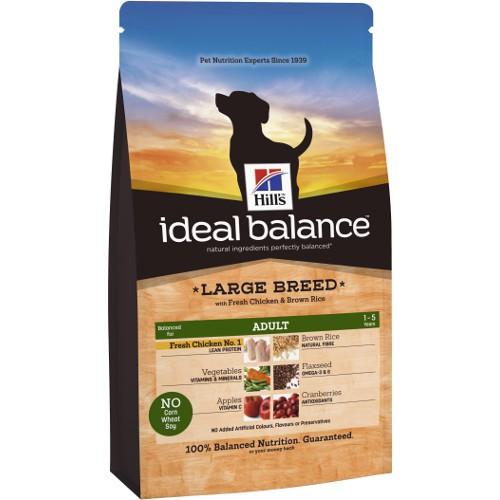 Hill's Ideal Balance Adult Large Breed pienso para perros con pollo y arroz
