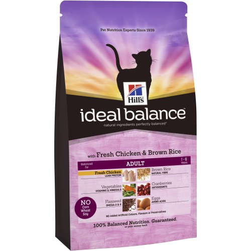 Hill's Ideal Balance Adult pienso para gatos con pollo y arroz