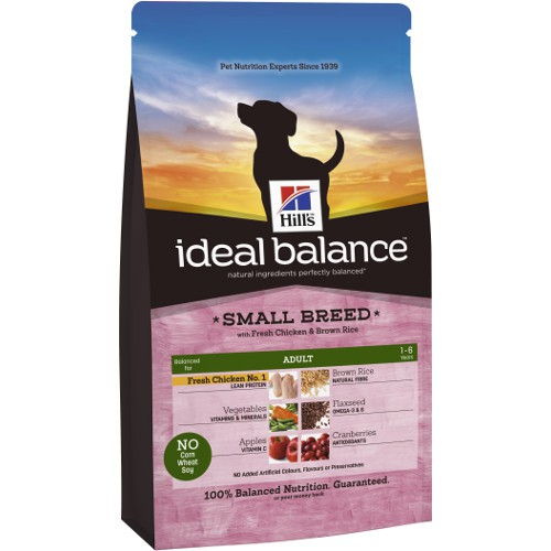 Hill's Ideal Balance Adult Small Breed pienso para perros con pollo y arroz