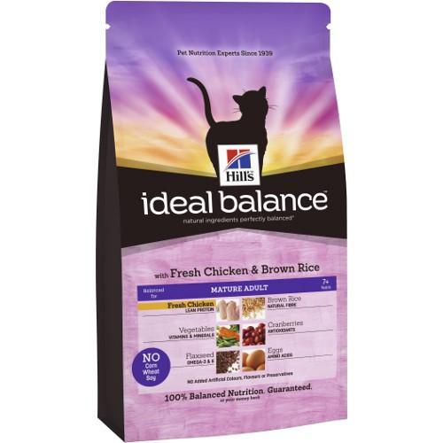 Hill's Ideal Balance Mature Adult pienso para gatos con pollo y arroz