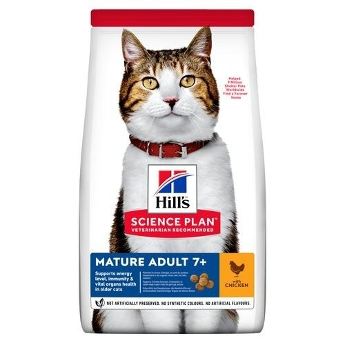Hill's Science Plan Pienso seco gato adulto mayor +7 sabor pollo