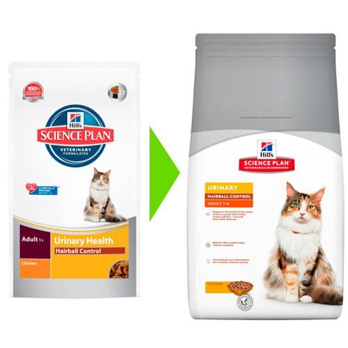 Hill´s Science Plan Urinary Health Hairball Control pienso para gatos sabor pollo