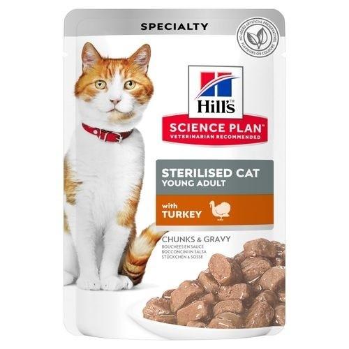 Hill's Sterilised húmedo con pavo para gatos