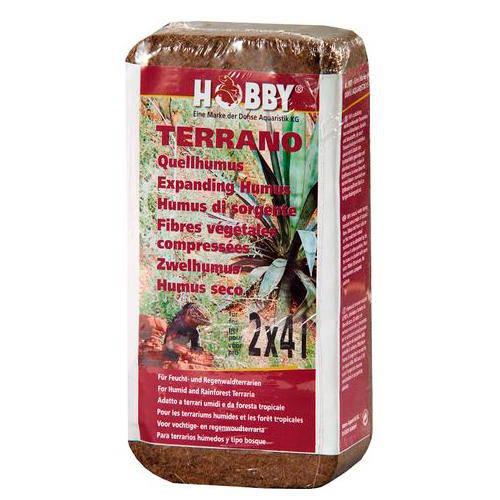 Humus seco comprimido natural de fibra de coco