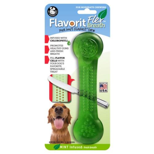 Hueso para perros rellenable Flavorit Flex sabor menta
