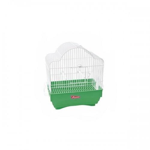 Jaula Aries Zincada para pájaros color Verde