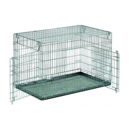 Jaula de metal plegable para transporte y alojamiento de perros