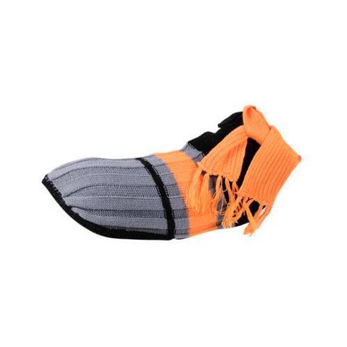 Jersey de punto con capa protectora y bufanda naranja