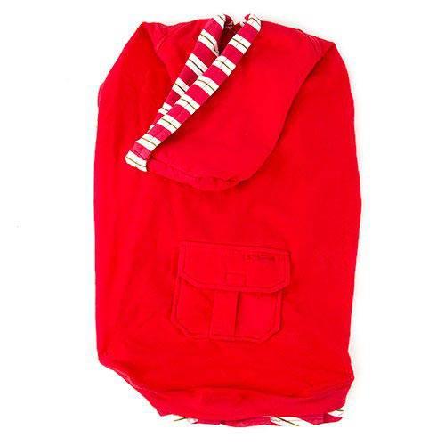 Jersey de algodon con capucha Color Rojo