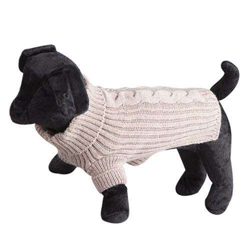 Jersey de lana para perros Terry marron