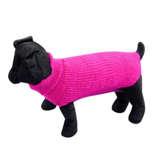 Jersey liso de punto para perros Sander fucsia