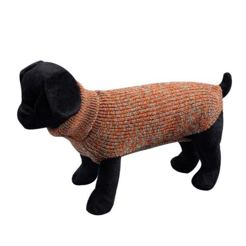 Jersey liso de punto para perros Sander marrón