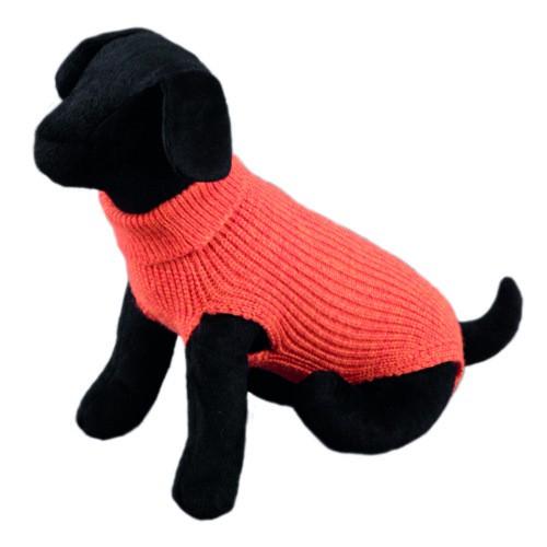 Jersey liso de punto para perros Sander naranja