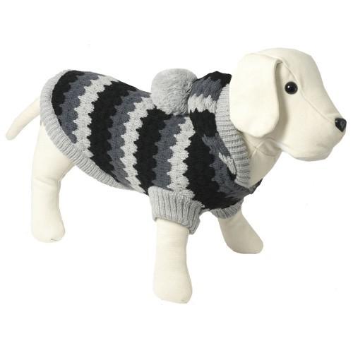 Jersey de punto con capucha para perros Tricot