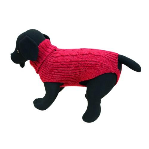 Jersey de punto para perros Cordelux rojo