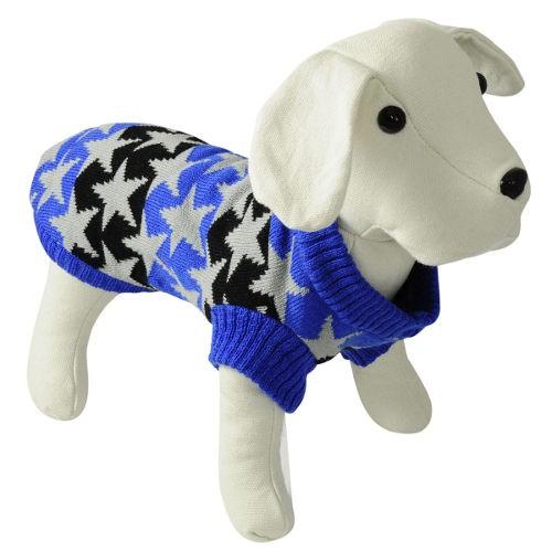Jersey de punto para perros Stars azul