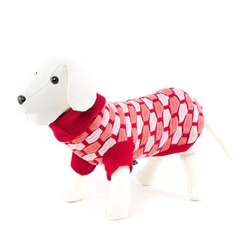Jersey para perros de punto unisex rojo