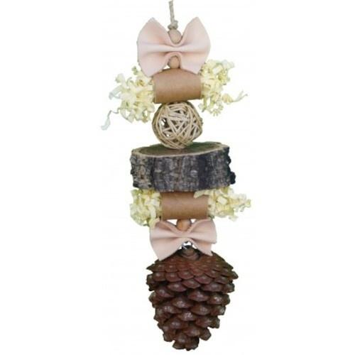Juguete colgante Natural Shredding Pinecone color Madera