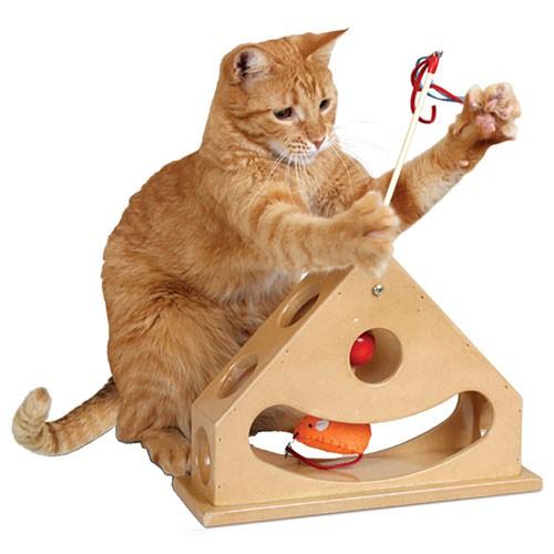 Juguete interactivo para gatos Tick Tock Teaser