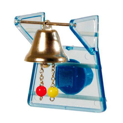 Juguete para pajaros Soporte con campana