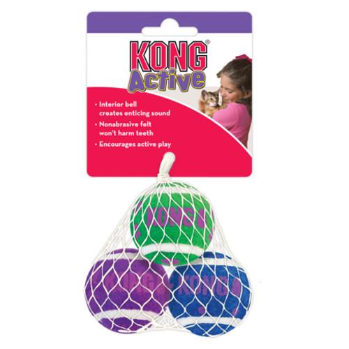 KONG Active pelotas de tenis con cascabel