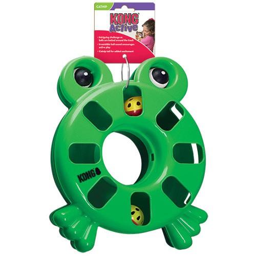 KONG Active Puzzle Frog juguete interactivo para gatos