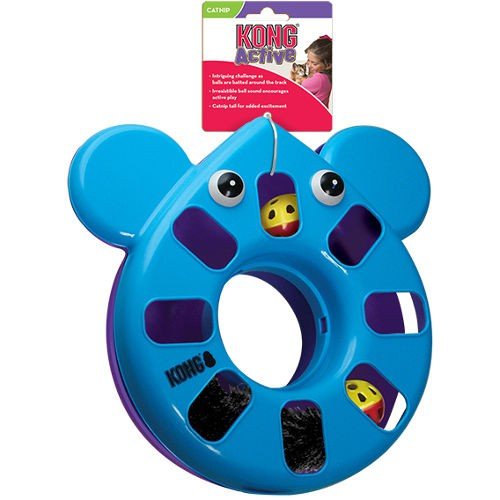 KONG Active Puzzle Mouse juguete interactivo para gatos