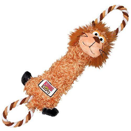 Kong Tugger Knots Peluche León con cuerda para perros