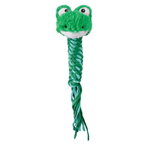 Kong Winder Frog juguete con cuerda para perros